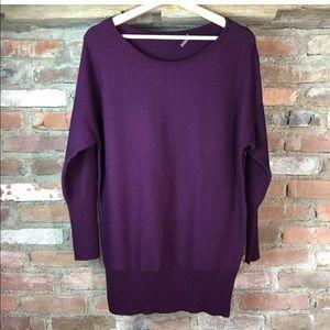 Ivanka Trump Burgundy Knit Long Sleeve Sweater